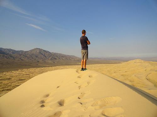 Fabio Achilli in the Mojave Desert