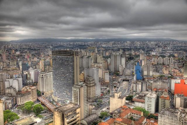 São Paulo from Banestao (Edifício Altino Arantes), Brazil