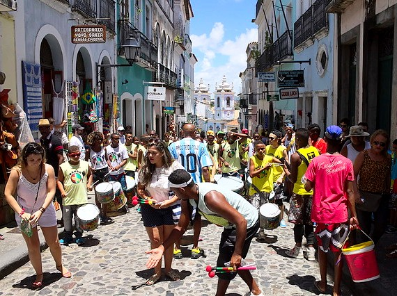 Music in the Streets of the Pelourinho, Salvador da Bahia, Brazil