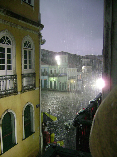 It's Raining in the Pelourinho! Salvador da Bahía, Brazil