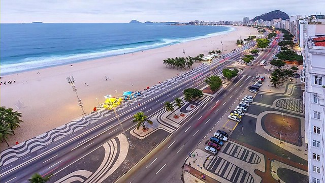 Avenida Atlantica and Copacabana Beach, Rio de Janeiro, Brazil