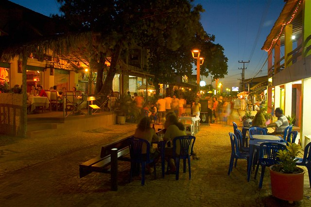 Broadway in the Evening, Canoa Quebrada, Brazil