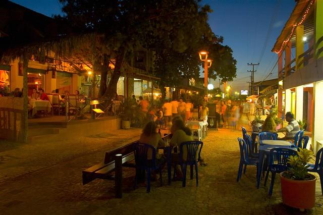 Broadway in the Evening, Canoa Quebrada, Brazil