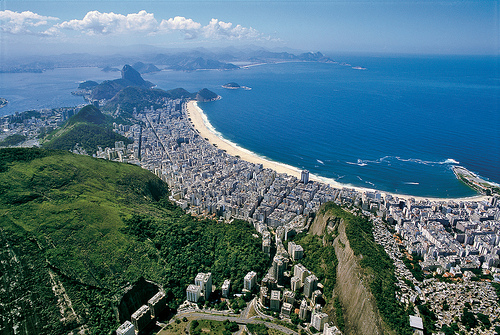 Photo of Copacabana from the Air, Rio de Janeiro