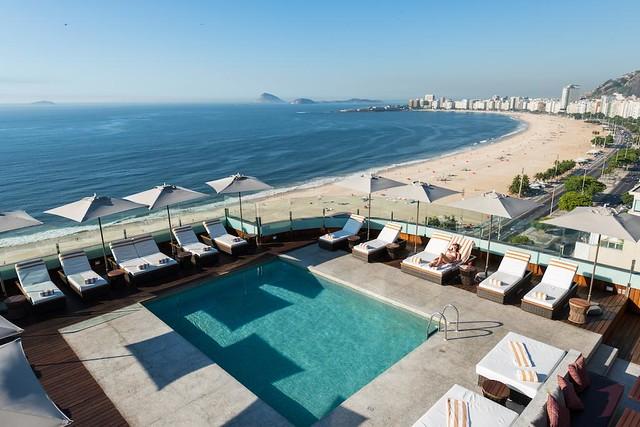 Copacabana Beach from PortoBay Rio de Janeiro Hotel, Rio de Janeiro, Brazil