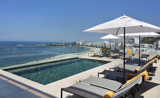 Southern End of Copacabana from Hotel Windsor California, Rio de Janeiro, Brazil