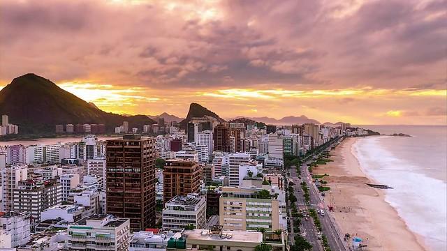 Ipanema at Sunrise, Rio de Janeiro, Brazil