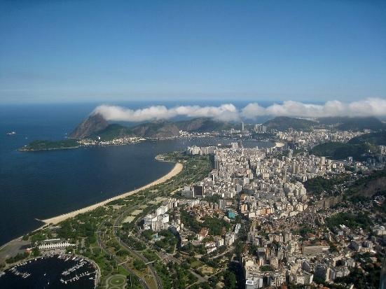 Rio de Janeiro, Gloria, Flamengo and Botafogo from the Air