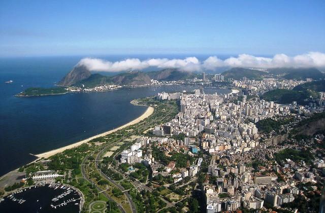 Gloria, Flamengo and Botafogo from the Air, Rio de Janeiro, Brazil