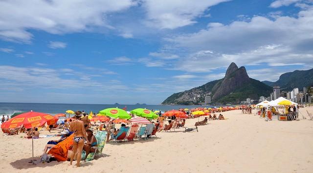 Sunny Day at Ipanema Beach, Rio de Janeiro, Brazil
