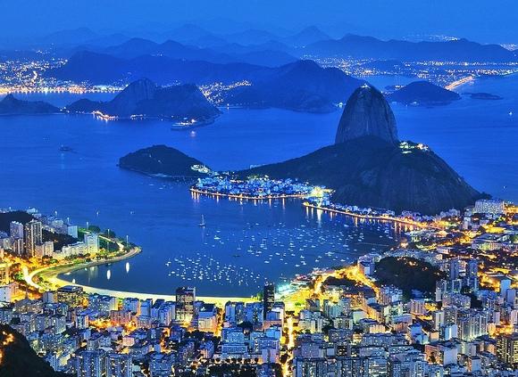 View from the Cristo Redentor, Corcovado, Rio de Janeiro
