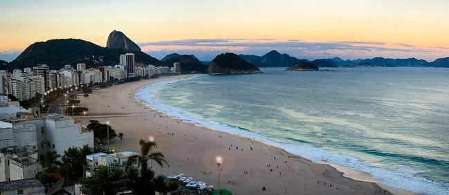Copacabana at Sunset, Rio de Janeiro, Brazil