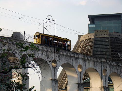 Photo of Rio de Janeiro, Arcos da Lapa, Bonde e Catedral Metropolitana