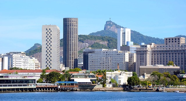 Rio de Janeiro City Center with Corcovado in the Background