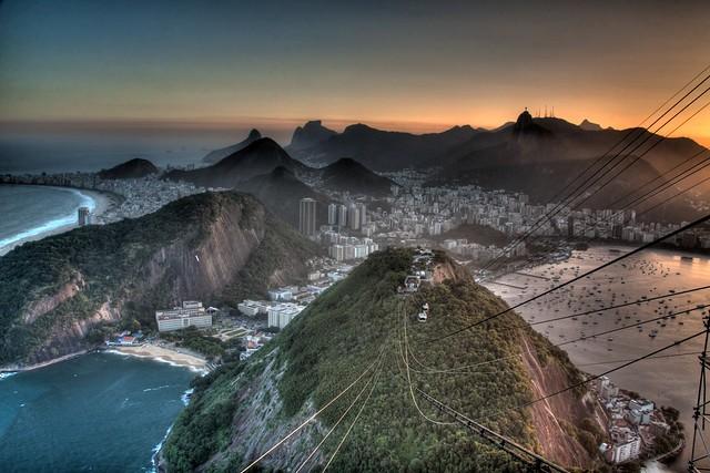 Rio de Janeiro from Pão de Açúcar, Brazil