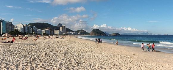 Avenida Atlantica and the Beach at Copacabana, Rio de Janeiro