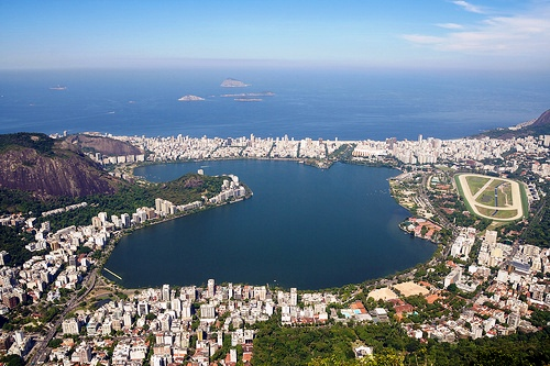 Lagoa Rodrigo de Freitas from Corcovado, Rio de Janeiro