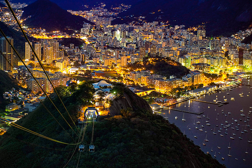 Rio de Janeiro at Night from Sugarloaf