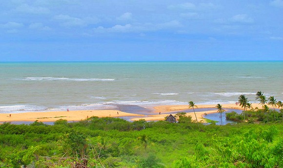 View of Atlantic Ocean and the Beach from the Quadrado, Trancoso