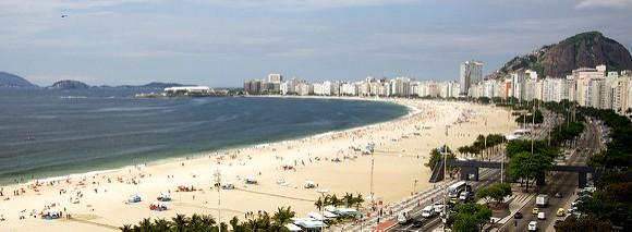 A Great View of Avenida Atlantica and Copacabana, Rio de Janeiro