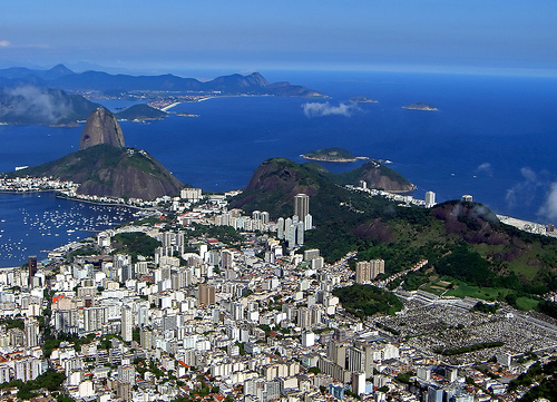 From Corcovado looking to Sugarloaf and Botafogo, Rio de Janeiro