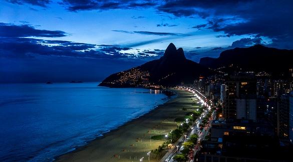 Ipanema at Night, Rio de Janeiro