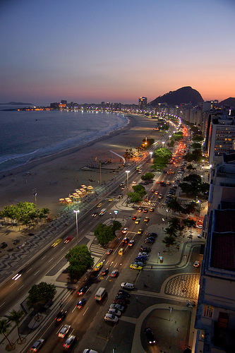 Photo of Copacabana at Night, Rio de Janeiro