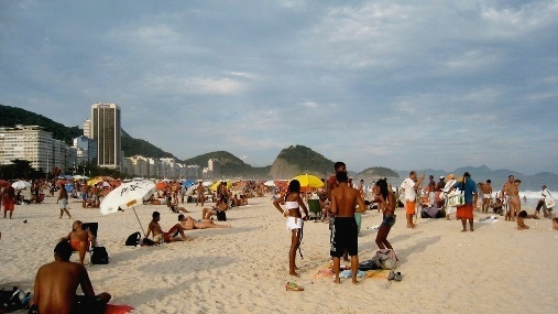 Photo of Copacabana Beach in Rio de Janeiro