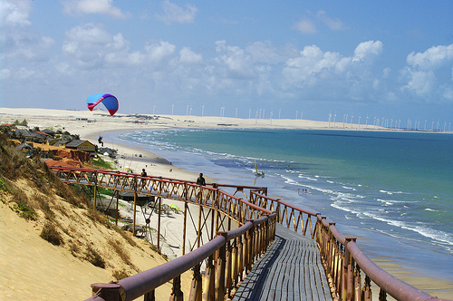 View of Canoa Quebrada Beach, South of Fortaleza, Ceará