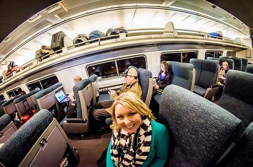 Aboard Amtrak Train between NY and Washington