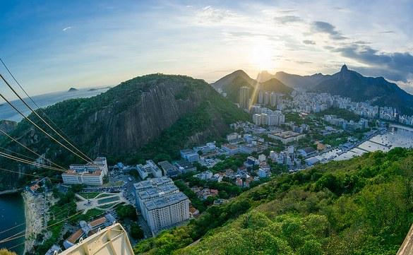 Riding the Rio Bondinho,Sugarloaf, Rio de Janeiro