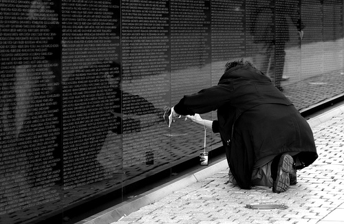 Photo of Vietnam Veterans Memorial in Washington, D.C.