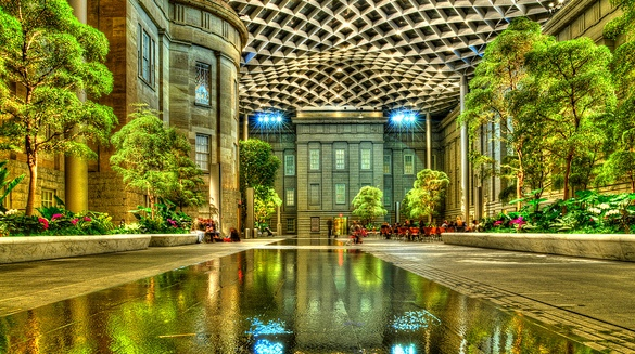 Kogod Courtyard, National Portrait Gallery, American Art Museum, Washington, D.C.