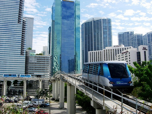 Metro Mover in Downtown Miami
