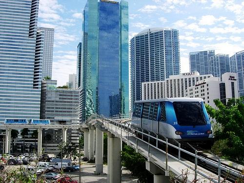 Metro Mover in Downtown Miami