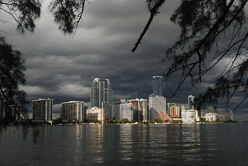 Photo of Miami, Brickell Avenue from Rickenbacker Causeway