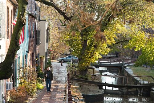 Walking along P & O Canal, Georgetown, Washington D.C.