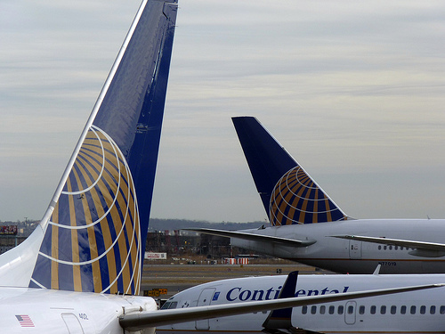 Photo of Continental Airlines Planes at Newark Airport