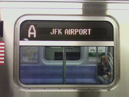 Photo of a JFK Airport A Train