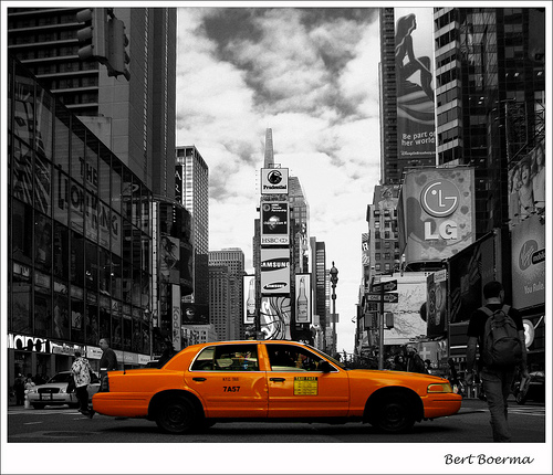 Photo of New York City Taxi in Times Square