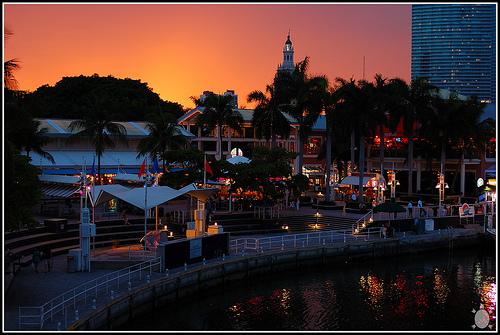 Sunset, Bayside, Downtown Miami, Florida