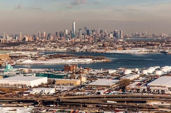 Landing Newark with Manhattan Skyline in the Background