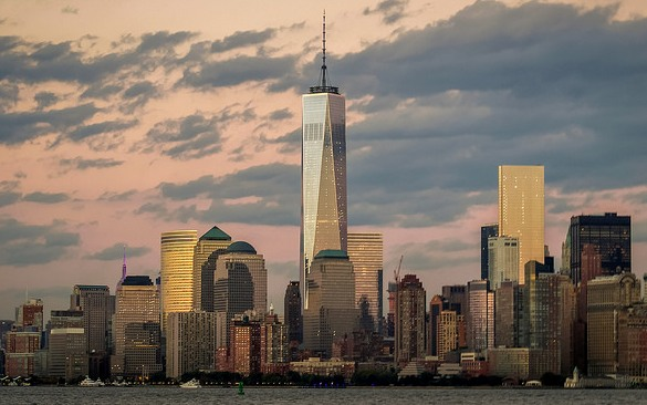 Freedom Tower and Lower Manhattan from the Hudson River, New York