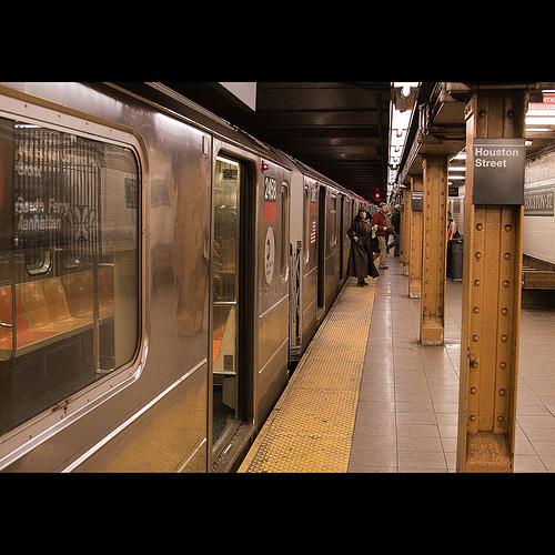 Photo of NY Houston Street Subway Station