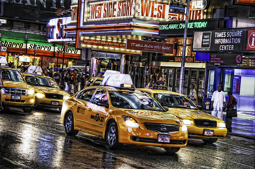 Photo of NYC Taxi in Times Square