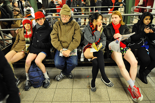 Photo of New York: No Pants Subway Ride