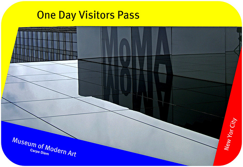 Visitor Pass, MoMA, New York City