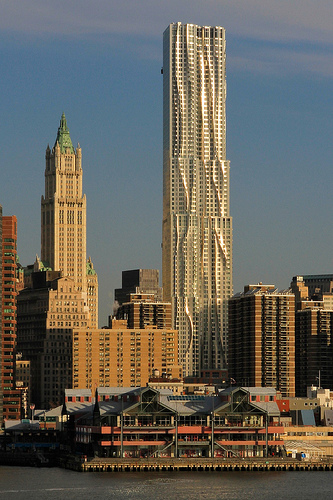 Photo of Pier 17 and New York by Gehry at 8 Spruce Street, Manhattan, New York