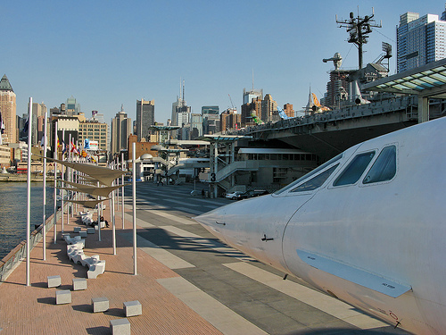 A Photo of the Concorde at Intrepid Sea, Air & Space Museum in New York