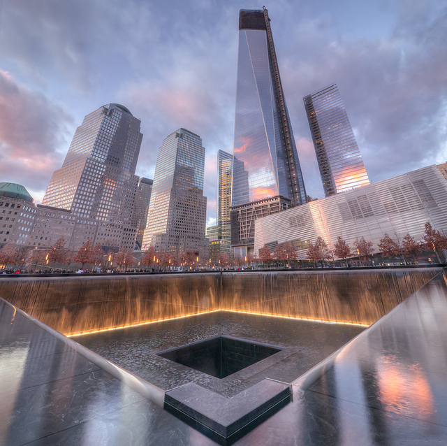 Photo of 9/11 Memorial and One WTC Tower, New York